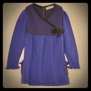 Purple & Black Stripe Surplice Tunic (Dress)